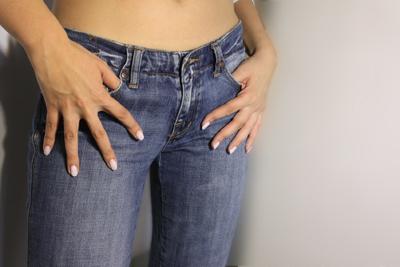 Jeans skinny moulant